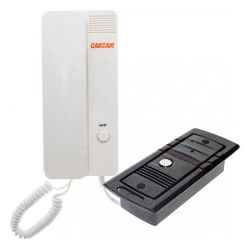 Комплектная дверная станция (домофон) CARCAM AD-810RT черный (дверная станция) белый (домофон)