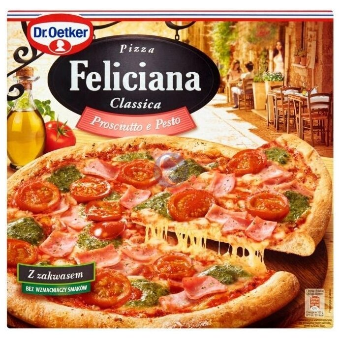 Dr. Oetker Замороженная пицца Feliciana Classica с ветчиной и песто 360 г