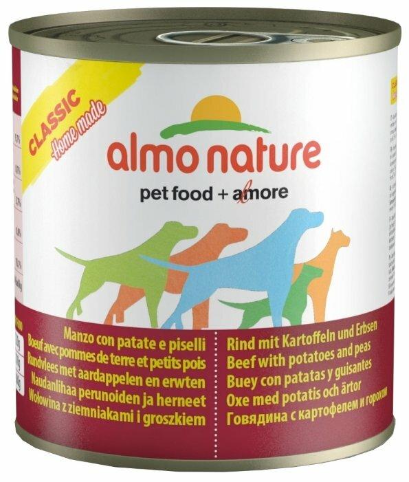 Корм для собак Almo Nature Classic Home Made говядина с картофелем, с горошком 280г