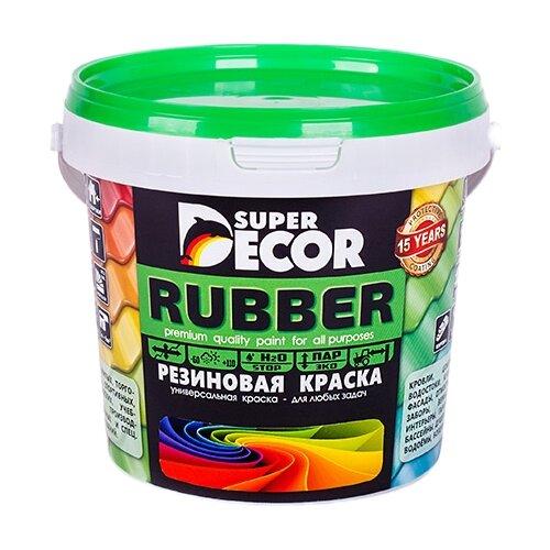 Краска акриловая Super Decor Резиновая краска ВД-АК-103 влагостойкая моющаяся матовая оргтехника 1 кг оргтехника