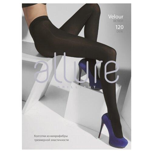 Колготки ALLURE Brilliant Velour 120 den, размер 4, nero (черный) колготки glamour velour 3 120 den черный