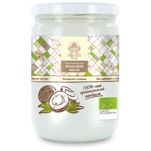 Organica for all Масло кокосовое 0.5 кгМасло растительное<br>
