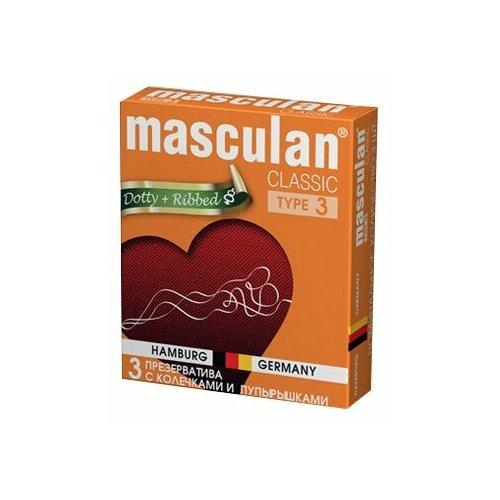 Презервативы masculan Classic Dotty+Ribbed (3 шт.) цена 2017