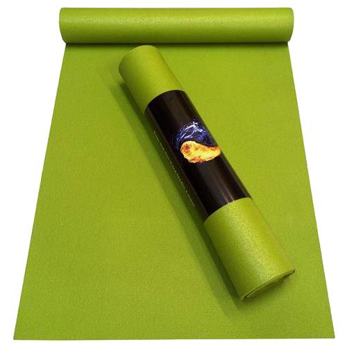 Коврик для йоги RamaYoga Yin-Yang Studio, 200х60х0.45 см зеленый