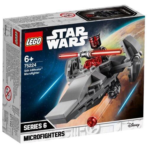 цена на Конструктор LEGO Star Wars 75224 Микрофайтеры: Корабль-лазутчик ситхов