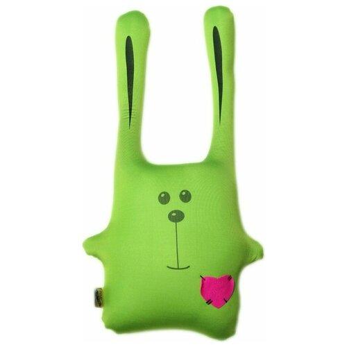 Купить Подушка-игрушка антистресс Штучки, к которым тянутся ручки Заяц Ушастик зеленый 43 см, Мягкие игрушки