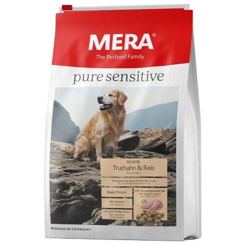 Корм для собак Mera (4 кг) Pure Sensitive Senior с индейкой и рисом для пожилых собак