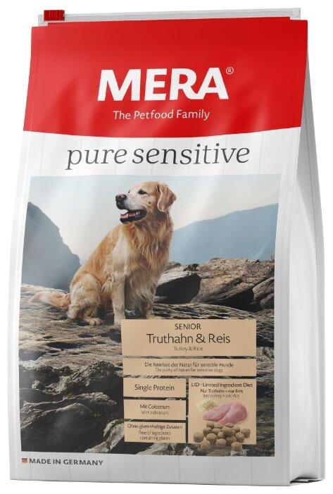 Корм для собак Mera (1 кг) Pure Sensitive Senior с индейкой и рисом для пожилых собак