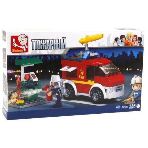цена на Конструктор SLUBAN Пожарные спасатели M38-B0623