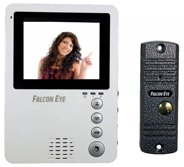 Комплектная дверная станция (домофон) Falcon Eye FE-KIT Дом серый (дверная станция) белый (домофон)