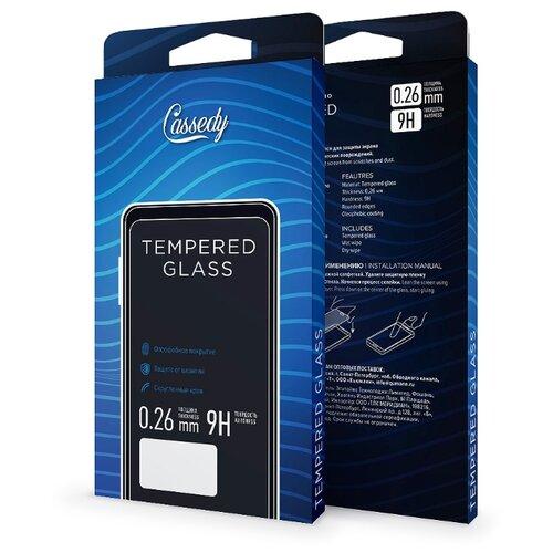 Защитное стекло Cassedy Full Cover&Glue для Apple iPhone XR черный стекло защитное rockmax iphone xr 3d черная рамка