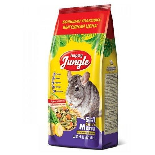 Корм для шиншилл Happy Jungle 5 in 1 Daily Menu Основной рацион 900 г