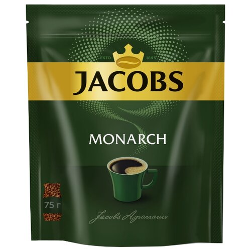 Кофе растворимый Jacobs Monarch, пакет, 75 г