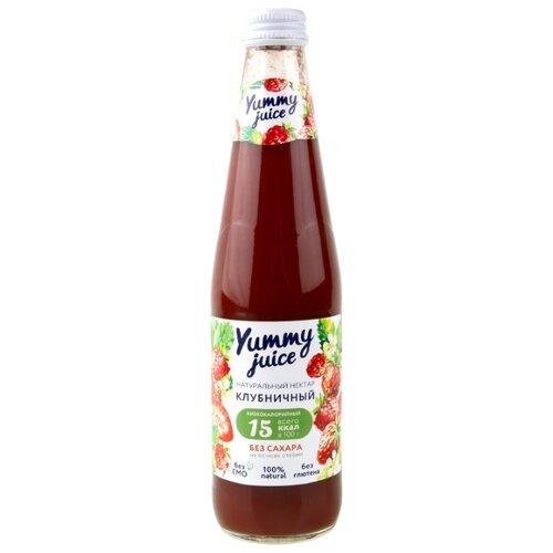 Нектар Yummy juice клубничный, без сахара, 0.33 лСоки, нектары, морсы<br>