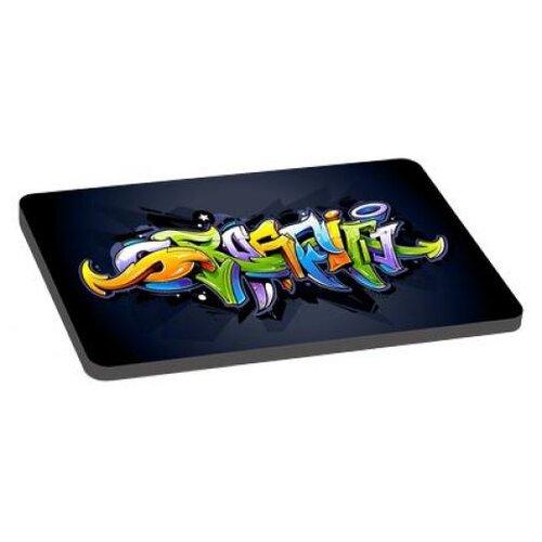 Лежак для собак PerseiLine Граффити 3 80х55х5 см черный