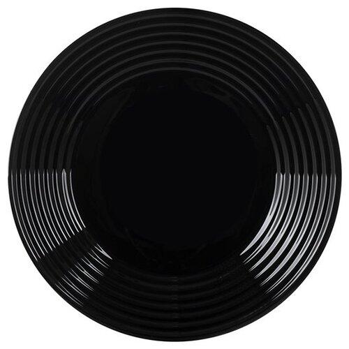 Luminarc Тарелка обеденная Harena Black 25 см L7611 черный тарелка суповая luminarc harena black 23 5 см