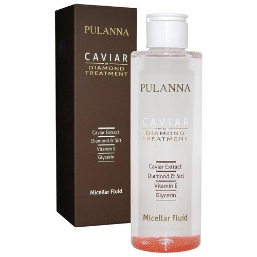 PULANNA мицеллярная вода на основе икры и бриллиантовой пудры Treatment Micellar Fluid, 200 мл набор pulanna grape cosmetics set