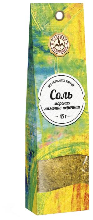 Домашняя кухня Соль морская пряная лимонно-перечная, 45 г