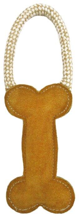 Косточка для собак Ankur с петлей из буйволиной кожи 25х15х8 см