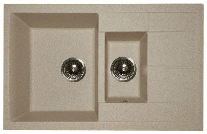 Врезная кухонная мойка Granula 7802 80х50см искусственный гранит