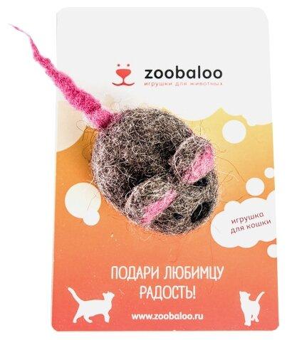 Мышь для кошек Zoobaloo Шерстяная мышь Эмма 6 см