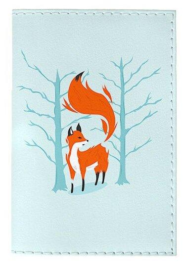 Обложка для паспорта Mitya Veselkov Лиса в лесу OZAM416