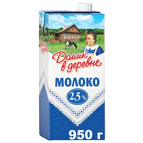 Молоко Домик в деревне ультрапастеризованное 2.5%, 0.95 л