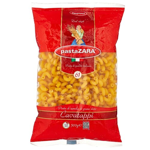 Pasta Zara Макароны 061 Cavatappi, 500 г рожок витой cavatappi pasta zara 61 500г