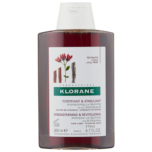Klorane шампунь Strengthening & Revitalizing Shampoo with quinine and B vitamins 200 мл где купить шампунь klorane