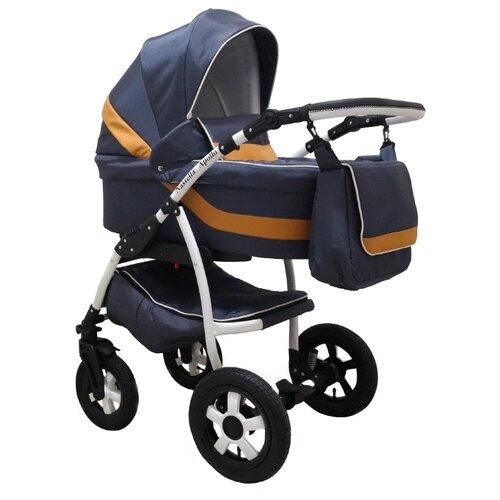 Универсальная коляска Nastella Apollo (2 в 1) серый/оранжевый