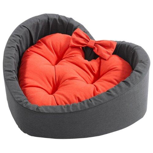 Подушка для собак и кошек Ferplast Cuore Medium 51х46х15 см оранжевый/серый