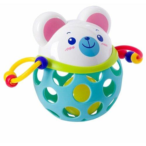 Купить Погремушка BONDIBON Мишка голубой, Погремушки и прорезыватели