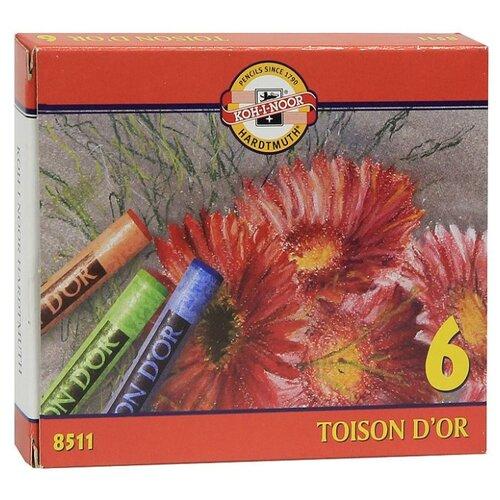 Купить KOH-I-NOOR Пастель сухая Toison D'or 6 цветов, Пастель и мелки