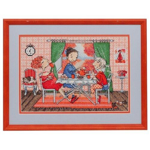 Фото - Ажур Набор для вышивания крестиком Чаепитие 26 х 18 см (0002) ажур набор для вышивания крестиком цветущий кактус 26 х 17 см 0010