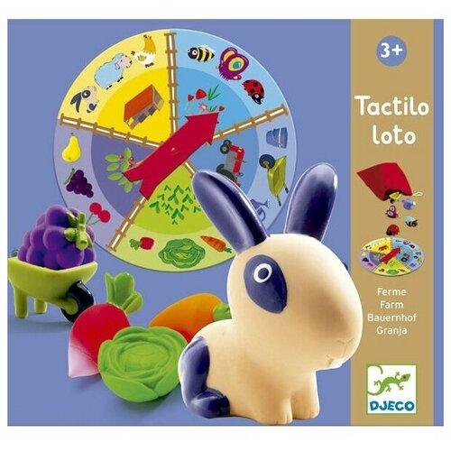 Настольная игра DJECO Тактильное лото Ферма игра детское лото магазин djeco игра детское лото магазин
