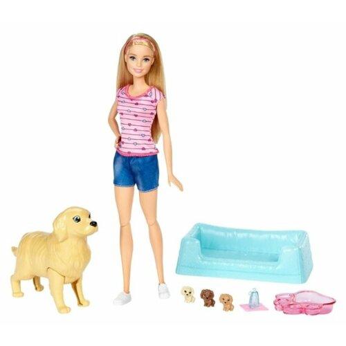 Купить Кукла Barbie и собака с новорожденными щенками, 29 см, FDD43, Куклы и пупсы