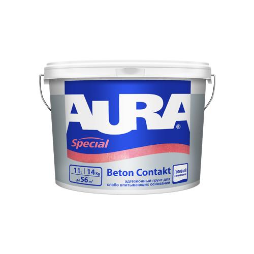 Грунтовка Aura Beton Contakt 11 л 14 кг грунтовка кбс beton kontakt 20 кг