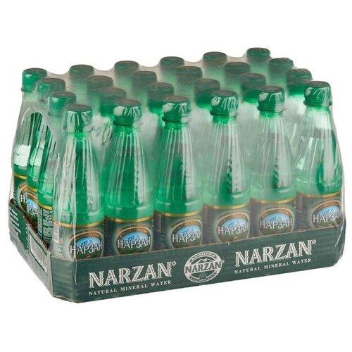 Минеральная лечебно-столовая вода Нарзан натуральной газации, ПЭТ, 24 шт. по 0.33 лВода<br>