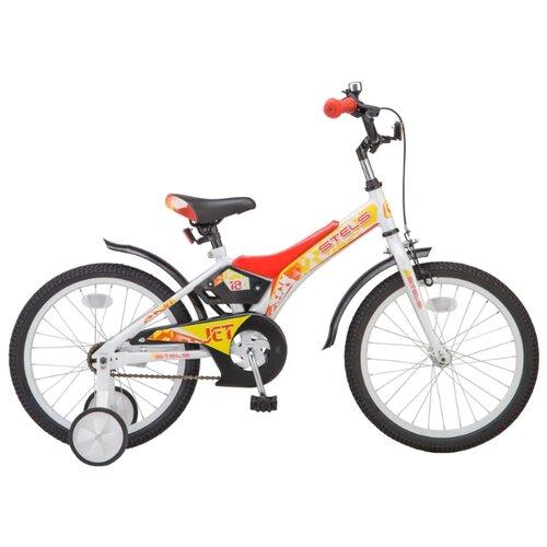 Фото - Детский велосипед STELS Jet 18 Z010 (2018) белый/красный 10 (требует финальной сборки) городской велосипед stels navigator 300 lady 28 z010 2018 фиолетовый 20 требует финальной сборки