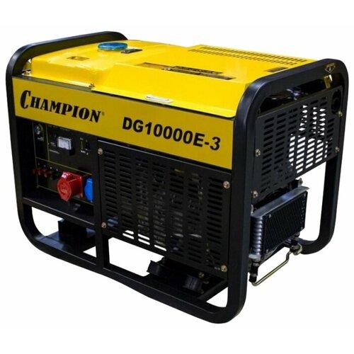 Дизельный генератор CHAMPION DG10000E-3 (12500 Вт) дизельный генератор hyundai dhy 8000se