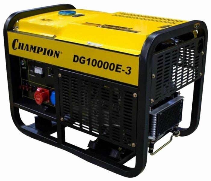 Дизельный генератор CHAMPION DG10000E 3 (10000 Вт)