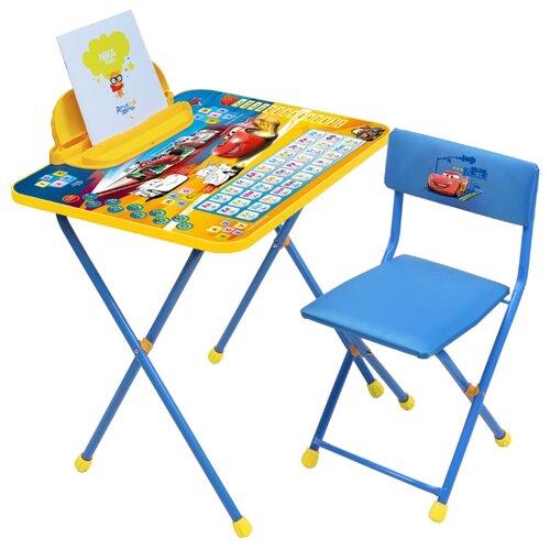 Купить Комплект Nika Тачки (Д2Т) 60x45 см синий/желтый, Парты и столы