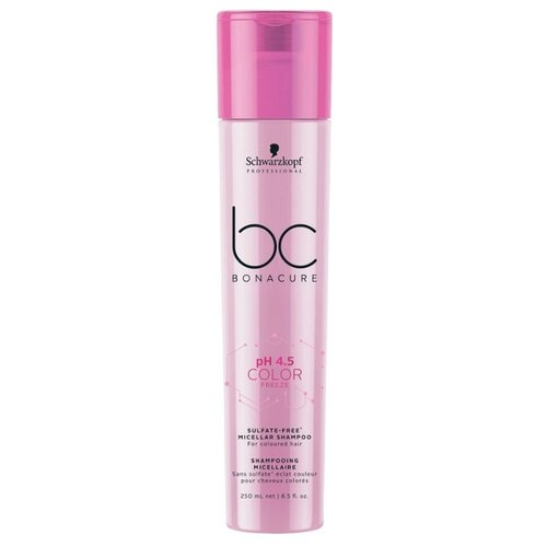 BC Bonacure шампунь мицеллярный pH 4.5 Color Freeze Sulfate-Free 250 мл шварцкопф bc bonacure hairtherapy fibreforce