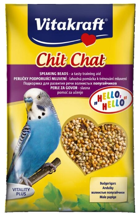 Добавка в корм Vitakraft для волнистых попугаев для развития речи