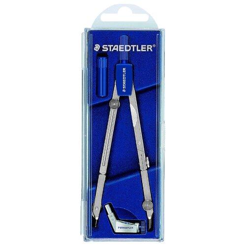 Купить Staedtler Готовальня Mars Basic 554 3 предмета (554 T01) синий/серебристый, Чертежные инструменты