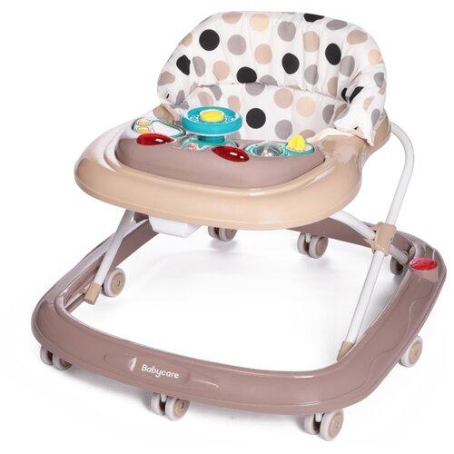 Ходунки Baby Care Flip бежевый/точки baby care baby care ходунки walker розовые