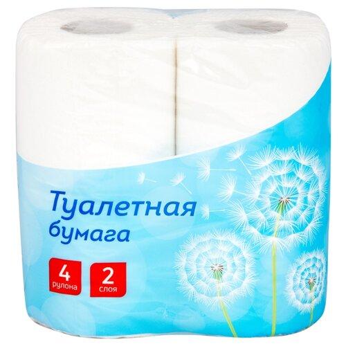 Фото - Туалетная бумага OfficeClean белая двухслойная, 4 рул. хозяйственные товары officeclean туалетная бумага 2 слоя 4 шт