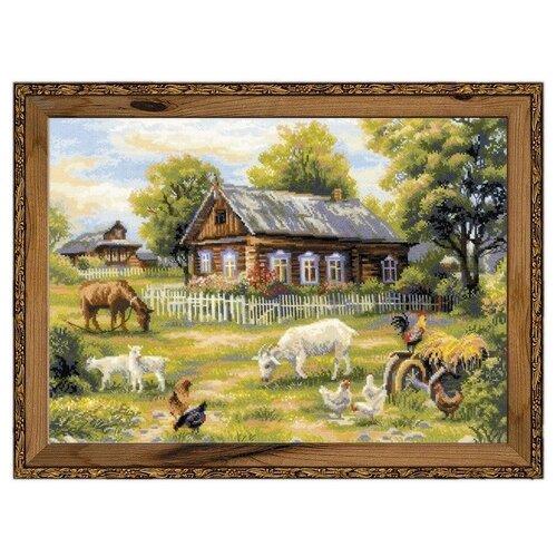 Купить Риолис Набор для вышивания крестом Деревенский полдень 50 x 35 (1501), Наборы для вышивания