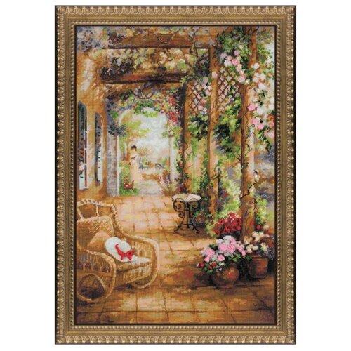 Купить Риолис Набор для вышивания Premium Свидание в саду 40 х 60 см (100/043), Наборы для вышивания
