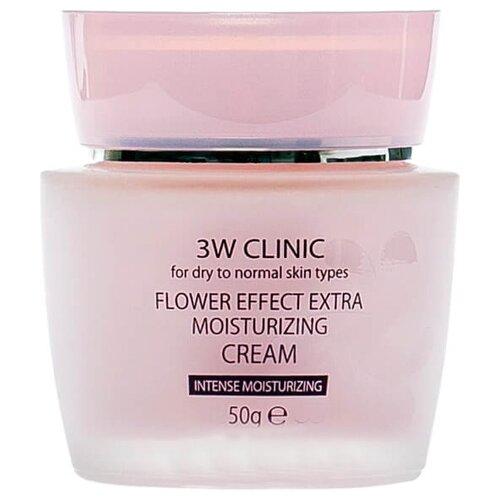 3W Clinic Flower Effect Extra Moisturizing Cream Крем для лица, 50 г набор для увлажнения лица с цветочными экстрактами 3w clinic flower effect extra moisturizing 3 kit set